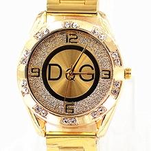 2020 Zegarek Damski nowy DQG fashion luxury watch crystal Damski Zegarek kwarcowy złoty srebrny ze stali nierdzewnej sukienka damska Zegarek tanie tanio OLMECA QUARTZ Bransoletka zapięcie ALLOY 3Bar Luxury ru 18mm ROUND Podświetlenie Odporny na wstrząsy Hardlex DFG849 24cm