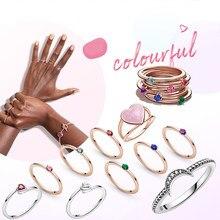 2020 neue Winter 925 Sterling Silber Ring Crescent Mond Perlen Ring Frauen Engagement Jahrestag Schmuck