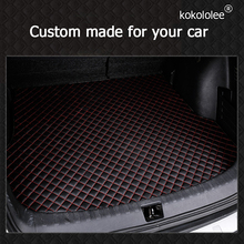 kokololee custom car trunk mat for Skoda all models fabia octavia rapid superb kodiaq yeti car styling custom car cargo liner