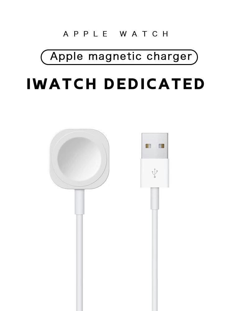 Магнитное быстрое зарядное устройство для Apple Watch 6 5 4 3 2 1, умное Индукционное Беспроводное зарядное устройство iWatch с USB, портативное зарядное...