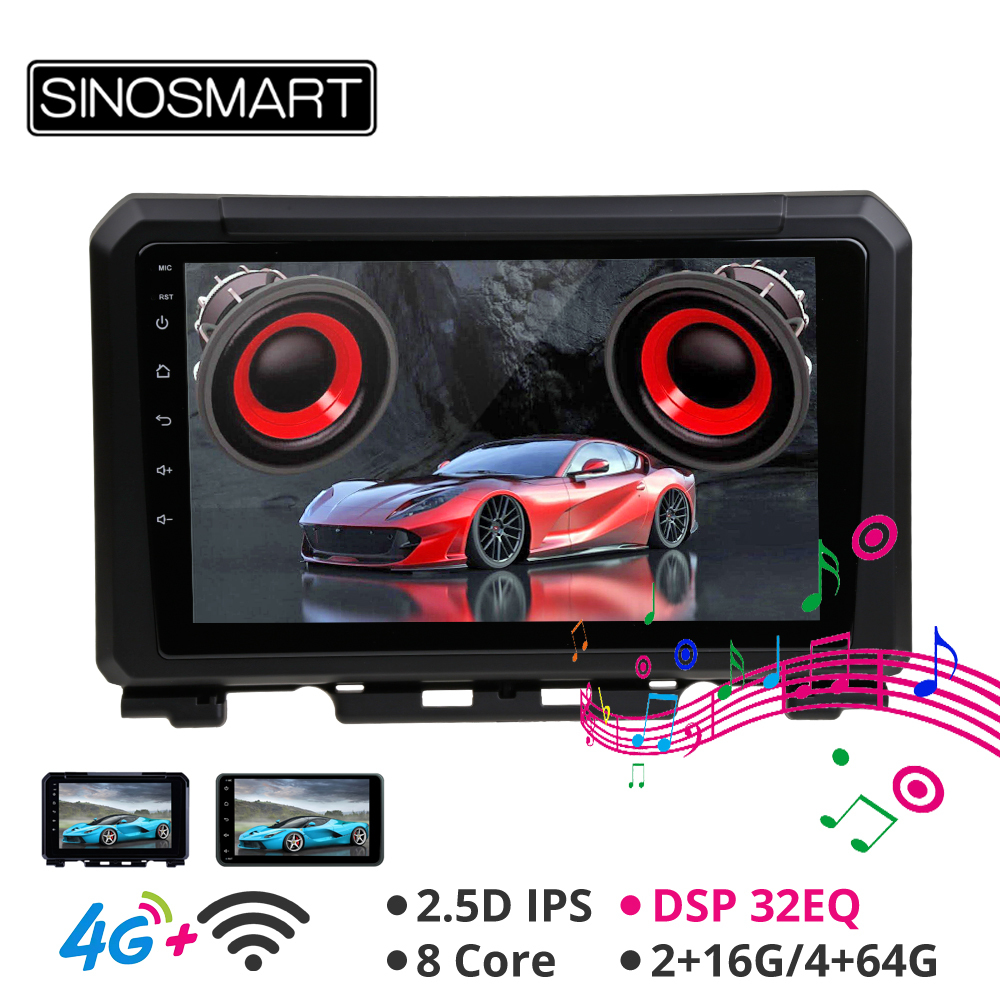 Excellent Sinosmart Android 8.1 Car GPS Navigation Radio for Suzuki Jimny 2007-2019 2din 2.5D IPS/QLED Screen 14