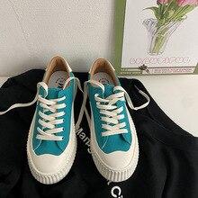Chaussures en toile vulcanisées pour femmes, baskets confortables et élégantes, couleur unie
