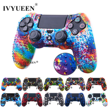 IVYUEEN 24 Colors Anti Slip Silicone Protective Skin Case For Sony PlayStation 4 PS4 DS4 Pro Slim Controller Thumb Grip Caps