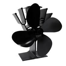 Gran flujo de aire de 4 hojas de ventilador de estufa de calor cuchillas de distribución de calor ventiladores de estufa cuchillas de leña de Gas quemadores piezas de chimenea