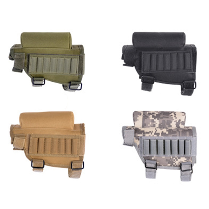 Nylon Portable Adjustable Tactical Butt Stock Rifle Cheek Rest Pouch Bullet Holder Bag   Accessories
