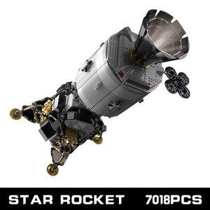 Image 5 - כוכב צעצועי מלחמת תואם עם MOC 26457 אפולו חללית בניין בלוקים לבני צעצועי הרכבה דגם ערכות ילדים חג המולד מתנות
