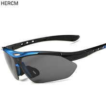 Hercm Bicycle Cycling Glasses Men Windproof UV400 Sunglasses Women Protection Goggles Eyewear Sports Running Spectacles RR7009 oreka dy789 retro style uv400 protection women s sunglasses brown orange