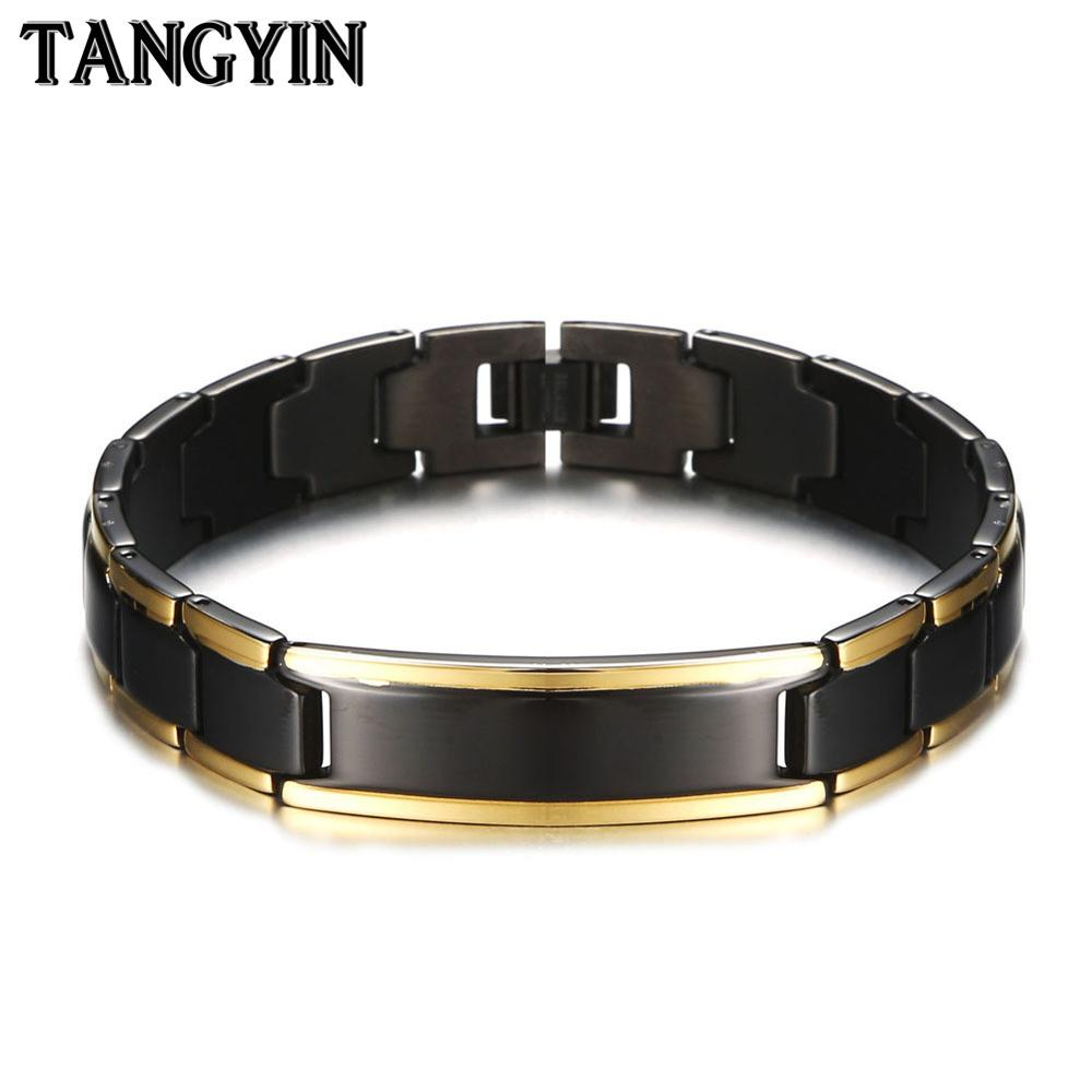 TANGYIN Healing Magnetic Bracelet Men Fashion Jewelry Stainless Steel Germanium Energy Bracelets For Women And Men Male Gift