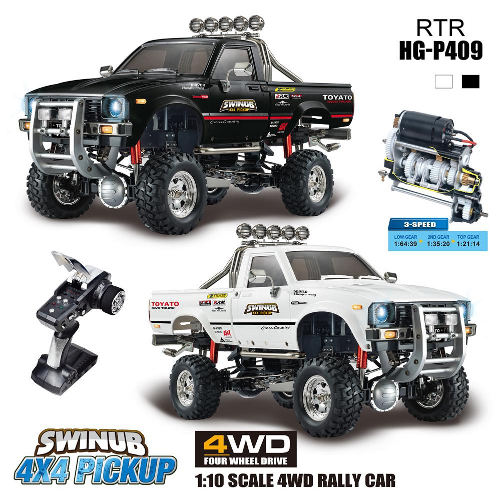 RCtown HG P409 1/10 2.4G 4WD RC Car 4X4 Pickup Truck Rock Crawler without Battery Charger Model image