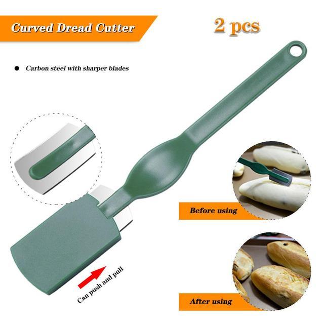 2 sztuk łuk bagietka cięcia francuski Cutter Bagel narzędzia w stylu zachodnim pieczenie chleba nóż krzywa wysokiej jakości tanie i dobre opinie Z tworzywa sztucznego Ekologiczne Zaopatrzony Noże JJ2024437 Ce ue Chleb noże