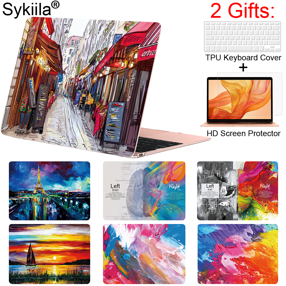 Sykiila Case For Macbook Pro 13 15 12 Retina Air 11 13 Inch Touch Bar A1932 A2159 Matte Print Cover Brain Marble Laptop Forsted
