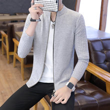 Teenager Korean-style Thin Jacket Men Autumn Cool Sweater Slim Fit Coat MEN'S Cardigan Cotton Knitwear Trend(China)
