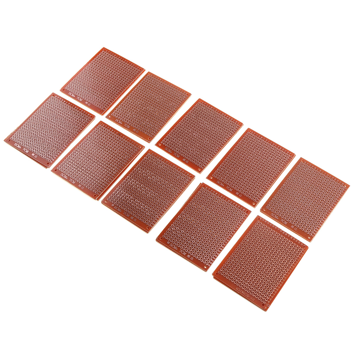 New 10pcs/set 5 X 7cm Universal Board Experimental Plate With Hole Board And Circuit PCB For DIY Laser Engraving Machine Use