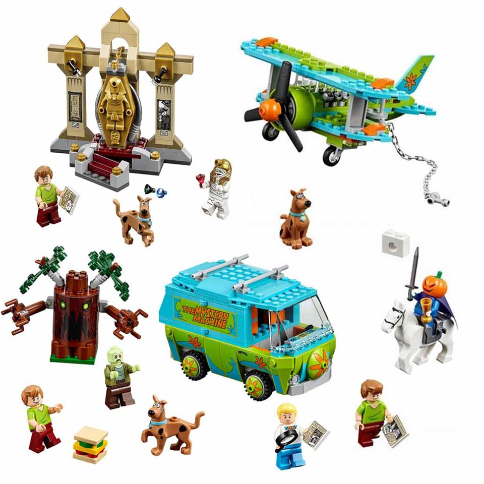 10430&10429 Scooby Doo Mystery Machine Bus Legoinglys City Building Blocks Brick Toys 10430 Combined Birthday Children Gifts Toy