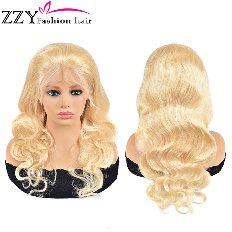 ZZY Fashion Hair Body Wave 613 Blonde Lace Front Wigs 150% Density Brazilian Non-remy 13*4 Lace Frontal Wig Human Hair Wigs