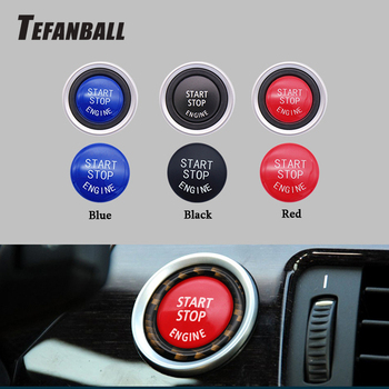 Car Engine START Button Replace Cover STOP Switch Button Decoration for BMW X1 X5 E70 X6 E71 Z4 E89 3 5 Series E90 E91 E60 image