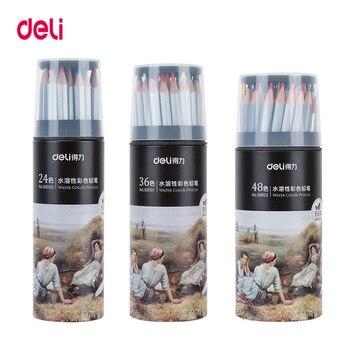 Deli wood watercolor pencil 24/36/48/72 colors Lead Hardness 2B professional colored pencils for Art School Office Supplies