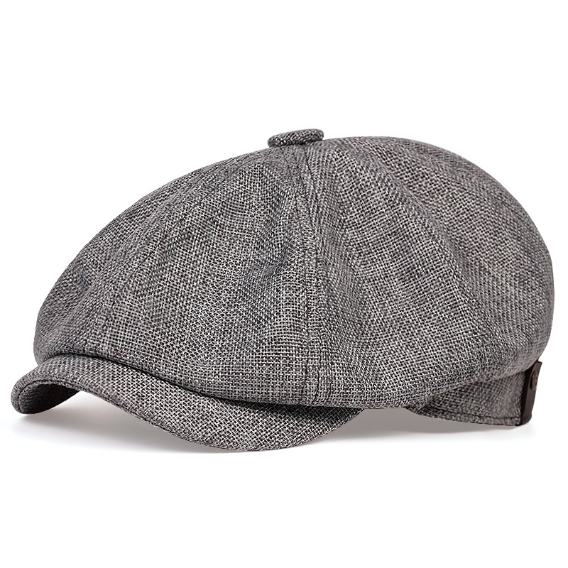 New Men's Casual Newsboy Hat Spring And Autumn Thin Retro Beret Hat Fashion Wild Casual Hat Unisex Wild Octagonal Hats