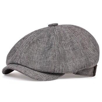 Sombrero informal de newsboy para hombre, Boina retro fina de primavera y otoño, sombrero salvaje informal, sombreros octogonales salvajes unisex