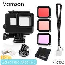 Vamson for Gopro Hero 7 6 5 Black Accessories kit Waterproof Protection Housing Case