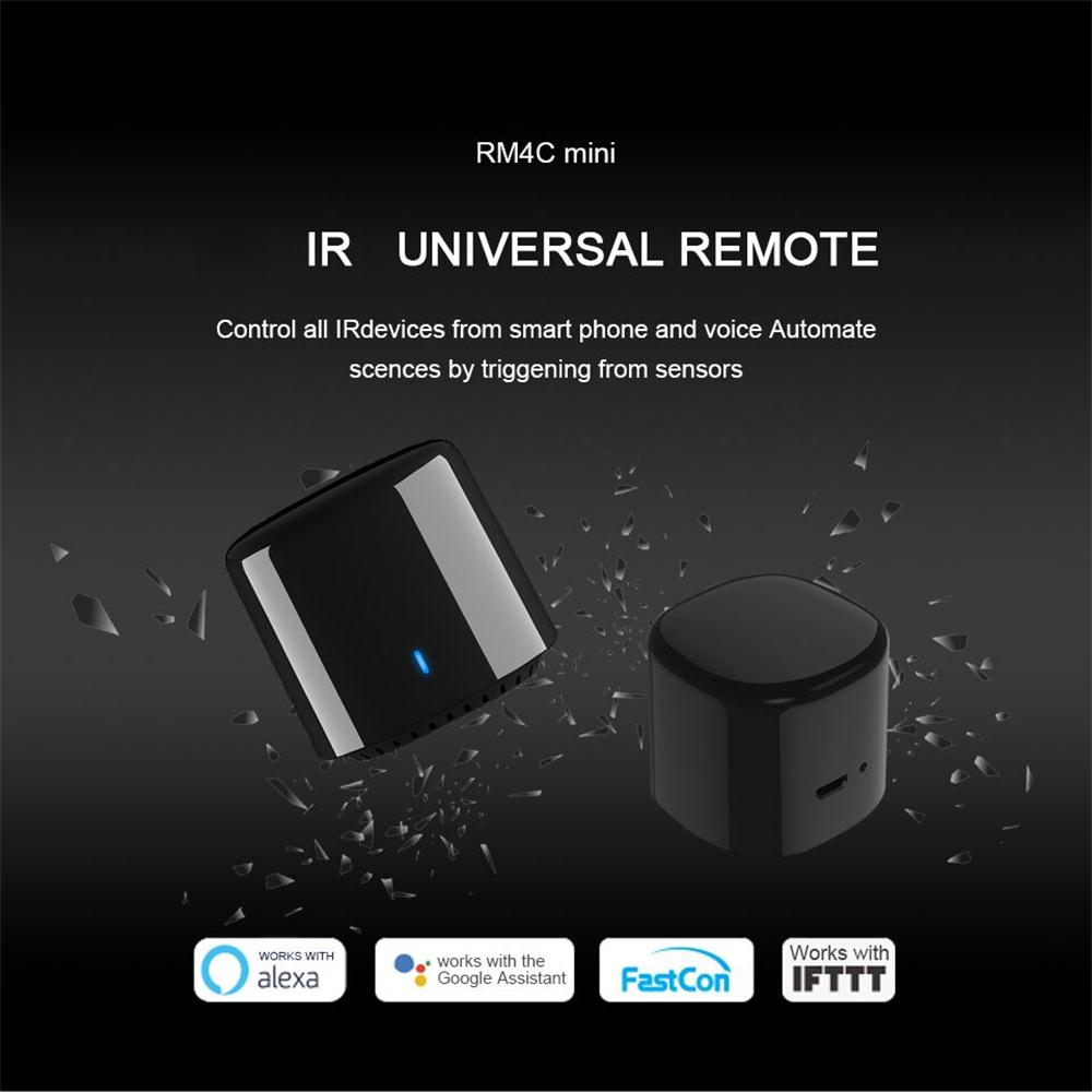 BroadLink RM4C Mini 3 Universal WiFi IR Remote Controller APP Control TV Smart Home Work With Amazon Alexa Echo Google Home Mini image