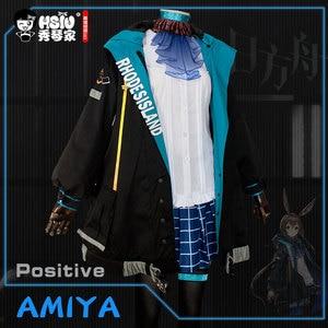 Image 5 - HSIU Arknights AMIYA Cosplay kostüm ceket ceket etek gömlek tam Set peruk oyunu kadın cadılar bayramı karnaval kostümleri Custom Made