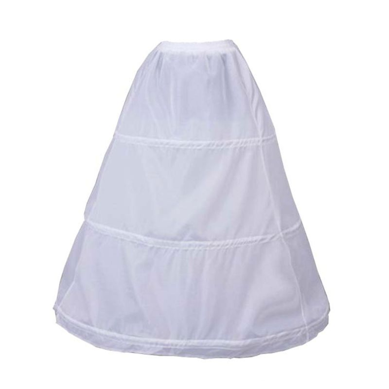 3 Hoops Elastic Waist Yarnless Pettiskirt Bridal Wedding Dress Skirt Lining Women Party Prom Costume Skirts Petticoat