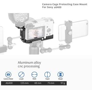 Image 5 - Soporte de placa QR L de aluminio CNC para Sony A6400, soporte de la cámara Dslr con accesorio de zapata fría