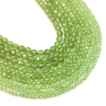 Natural Small Size Peridot Beads Faceted Gemstone Round Loose Beads DIY For Jewelry Making Bracelet Necklace Earring 2mm 3mm 4mm faceted rubys sapphired beads square shape natural gem stone loose beads for jewelry making diy bracelet necklace size 4mm