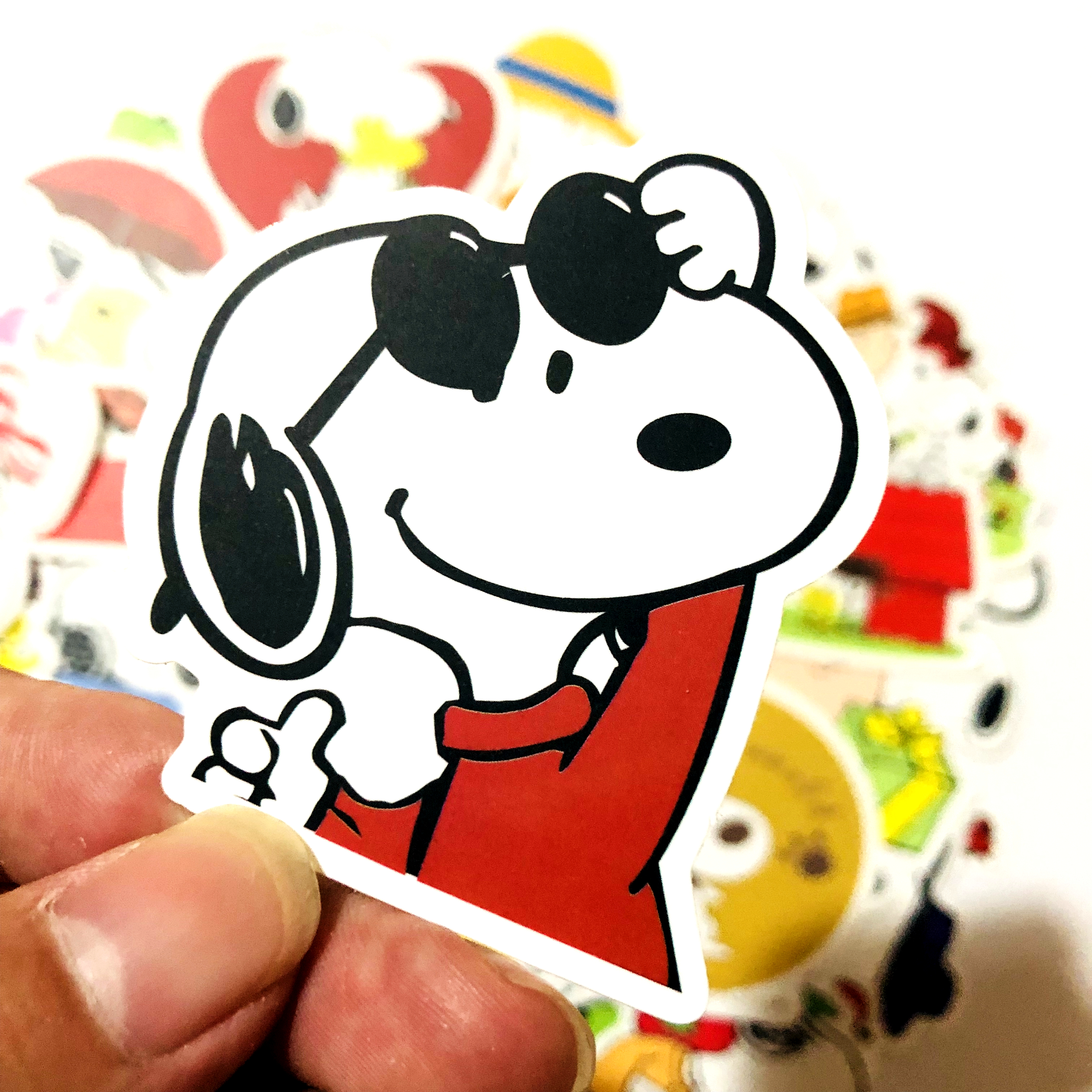 Image 5 - 50/100pcs cartoon Snoopy stickers For Laptop Skateboard Luggage Decal Office Toy Appliances netbook waterproof stickers-in Stickers from Toys & Hobbies