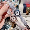 Dimini Oval Zirkon Rose Gold Armband Mode Persönlichkeit Strass Blütenblatt Armbanduhr Voller Diamanten Armbanduhr Strap Damen Uhr-in Damenuhren aus Uhren bei