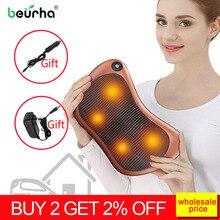 Oreiller électrique Shiatsu pour le cou, accessoire Shiatsu, accessoire de Massage électrique à infrarouge, accessoire de Massage à la maison, pour le cou, larrière, la taille, le corps, chauffage