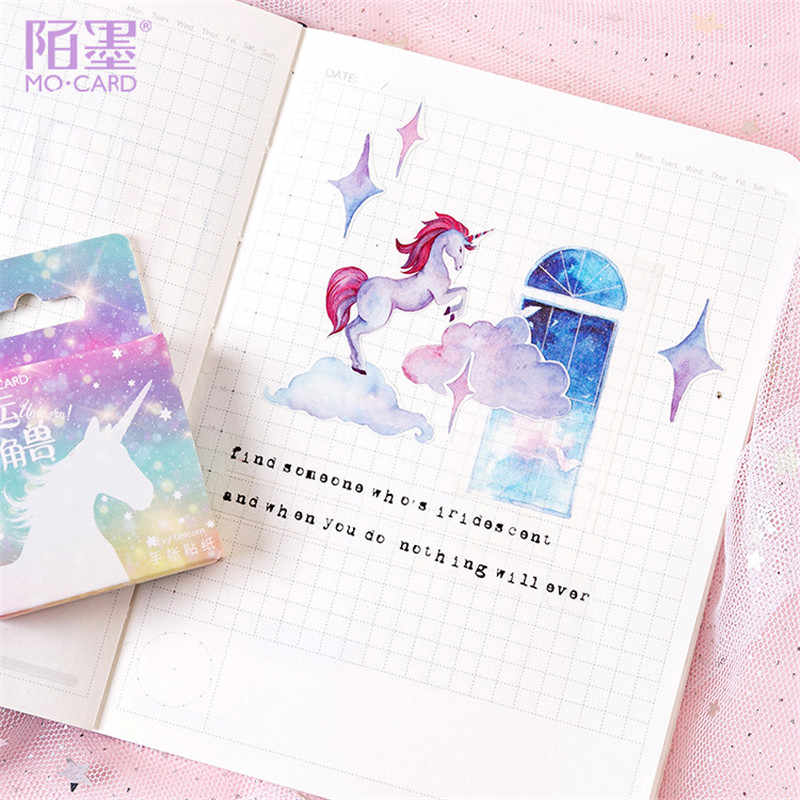 1PCS Kawaii Fortunato Unicorn Memo Pad Plaid e Linee Sticky Note di Carta Cancelleria Adesivi Delicati Bookmark Post-it Etichetta