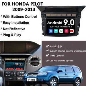 YAZH Android 9.0 Car GPS Navigation Radio Stereo Bluetooth for Honda Pilot 2009 2010 2011 2012 2013 with DVD Multimedia Player