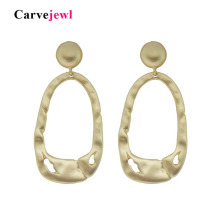 Carvejewl big post earrings irregular rectangle circle with hole drop dangle for women jewelry new fashion earring hot