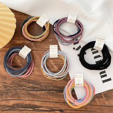 10 Pcs/Set New Children Cute Soft Solid Elastic Hair Bands Girls Lovely Colorful Scrunchies Rubber Bands Kids Hair Accessories
