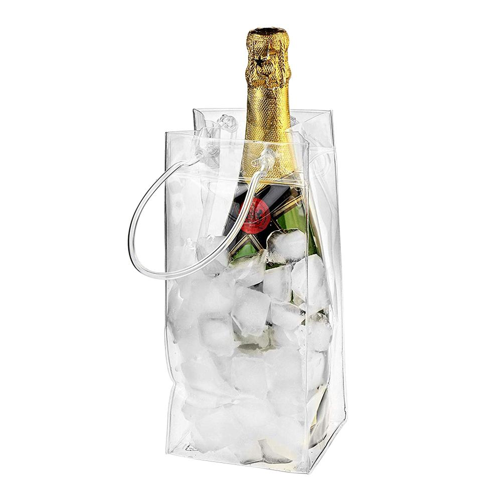 PVC Leakproof Ice font b Bag b font ECO Friendly Transparent Ice Pack Portable Ice Bucket