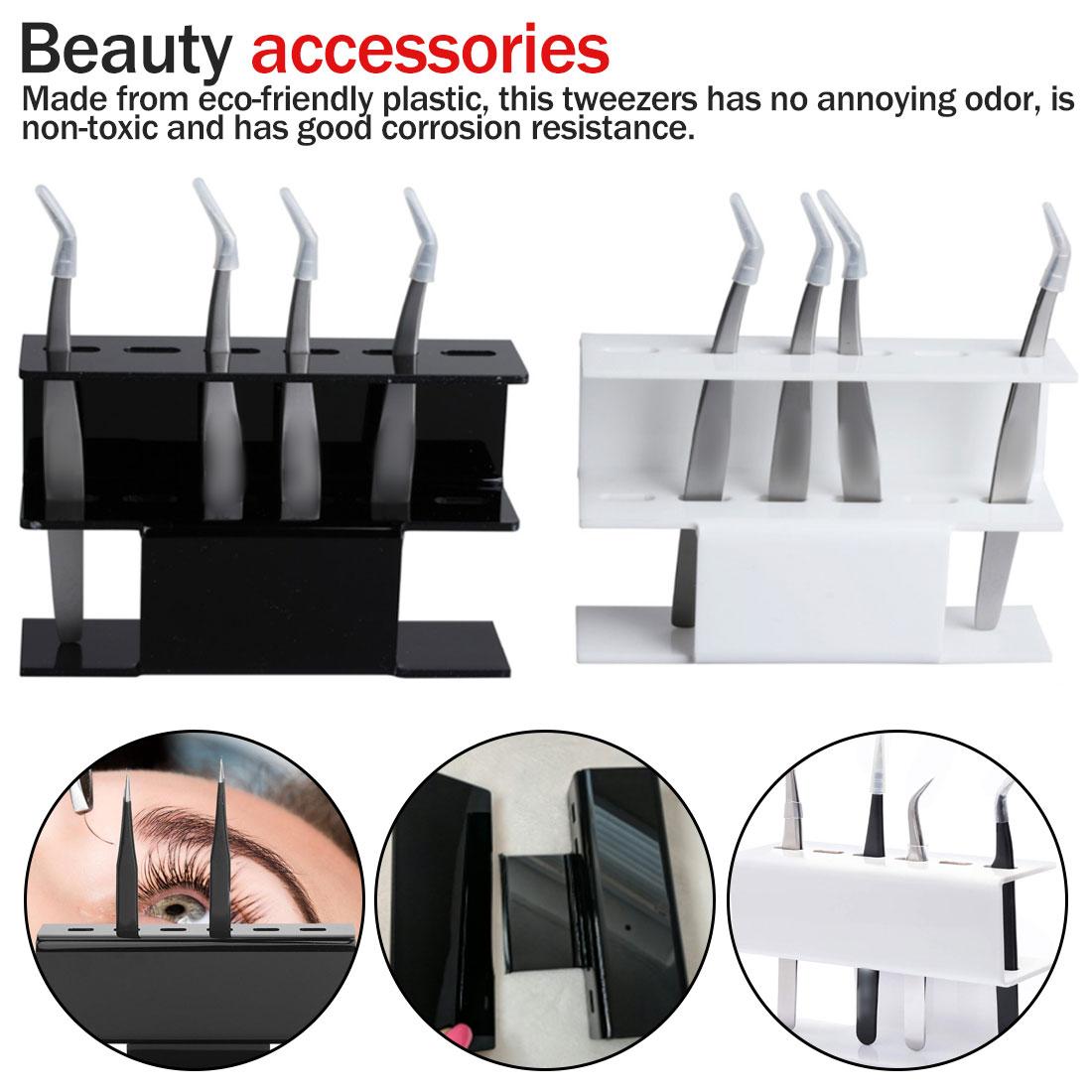 Eyelash Extension Plastic Tweezers Shelf Holder 6pcs Tweezer Stand Positions Eyelashes Beauty Make-Up Tools