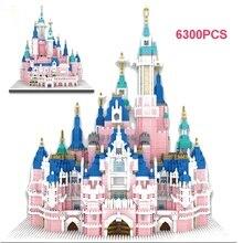 Model for Pretty-Girl Toy Castle Building-Blocks Park Architecture City-Series Amusement