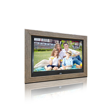 цена на 10 inches customized digital photo frame with wooden frame support SD USB as advertising player