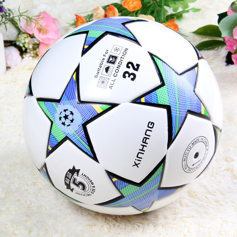 Manufacturers Direct Selling Genuine Product No. 5 Lagging Five-pointed Star Yarn Bile Wire Wound TPU Football Game Training Top