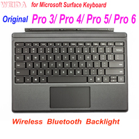 Original Keyboard for Microsoft Surface Pro 3/ 4 /5/ 6 Type Cover Backlight Wireless Bluetooth Keyboard for Pro 3 1631 1724 1796