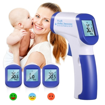 Infrared Thermometer Gun IR-805B Infrared Medical Pacifier Fever Body Baby Care Forehead Digital Thermometer Non-contact Tester