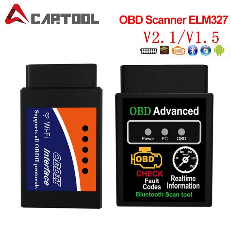 Автомобильный диагностический инструмент V1.5/V2.1 Super MINI ELM327 Bluetooth ELM 327 Версия OBD2 / OBDII для Android сканер автомобильного кода Torque