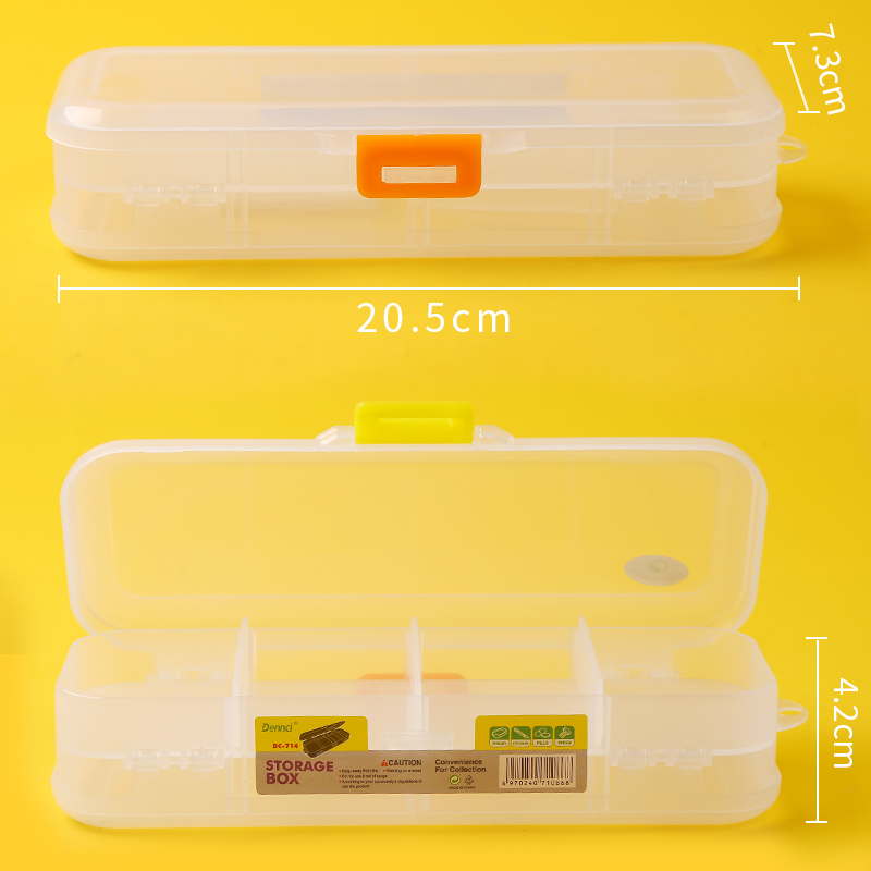 NEW Transparent Pencil Case 2 Layer Pen Box Pencilcase Stationery Box Storage Boxfor sketch drawing School Art Supplies
