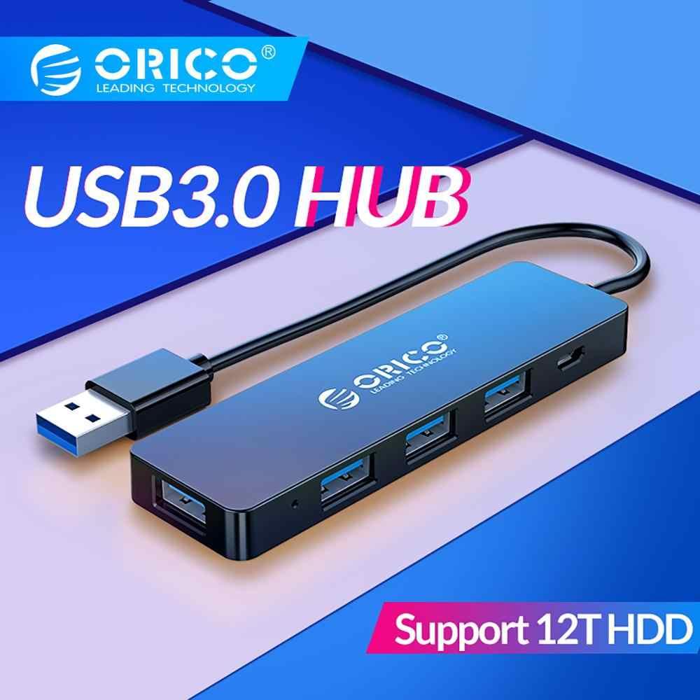 オリコ USB3.0 ハブ電源インタフェースマルチ 4 ポート USB スプリッタ OTG アダプタサポート 5 5gbps 12 テラバイト HDD pc コンピュータのラップトップ