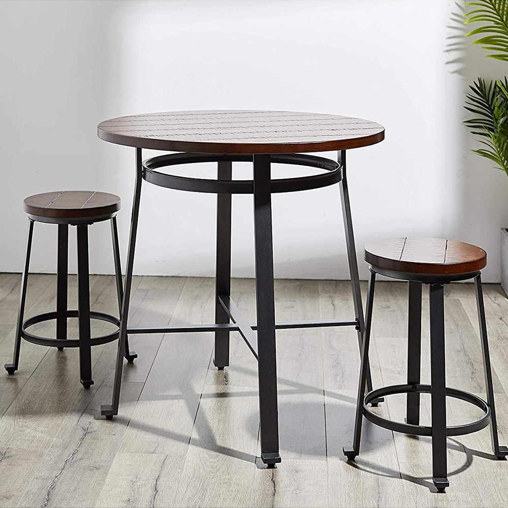 """24 """"Высокий барный стол из масива деревая стойка у стены Высокий барный стол"""