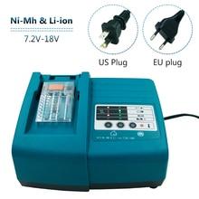 7.2V 18V DC18RA DC18RT yedek lityum şarj için Makita DC18RC güç aracı pil BL1830 BL1840 BL1430 li ion pil
