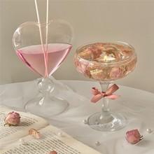 Glass Flower Vase Love Heart Flower Pots Transparent Hydroponic Vases Desktop Terrarium Containers Aromatherapy Bottle Decor