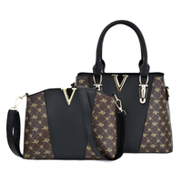 2 PCS Women Bags Set Leather Handbag Women Handbags Designer Ladies Tote Shoulder Bag for Women 2019 Luxury V Bags sac a main